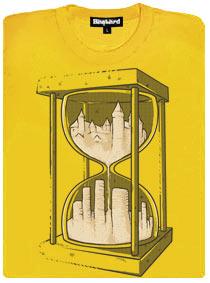 Přesýpací hodiny - žluté dámské tričko
