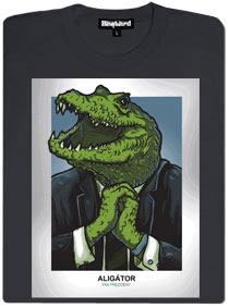 Prezident aligátorem - šedé dámské tričko