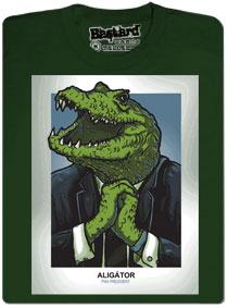Prezident Zeman Aligátor - zelené pánské tričko s potiskem