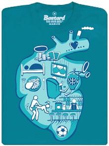 Pro co bije mužské srdce - modré pánské tričko