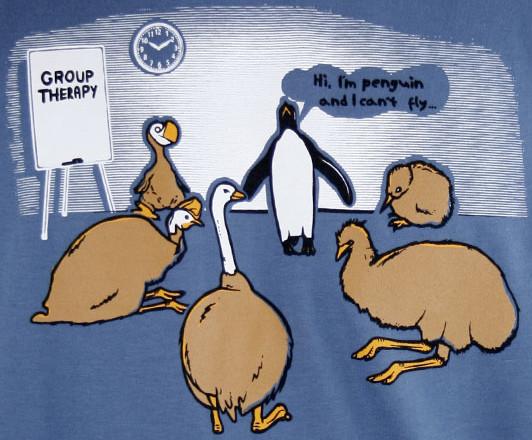 Skupinová terapie nelétavých ptáků