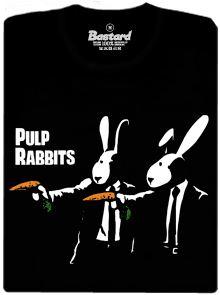 Pulp Rabbits - černé pánské tričko