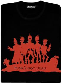 Punk's not dead - černé dámské tričko s potiskem