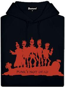 Punk's not dead - černá pánská mikina s potiskem