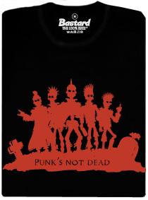 Punk's not dead - černé pánské tričko s potiskem