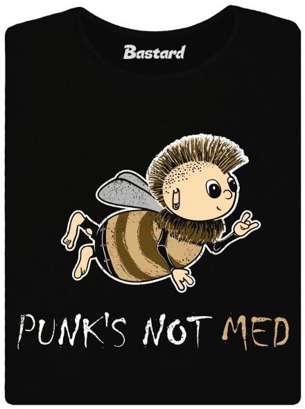 Punk není med - černé dámské tričko