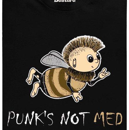 Punk\'s not med - černé pánské tričko