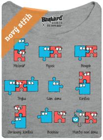 Kámasútra - puzzle - šedé dámské tričko s potiskem