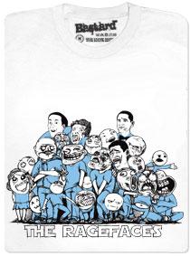 Rage faces pohromadě - bílé tričko s potiskem