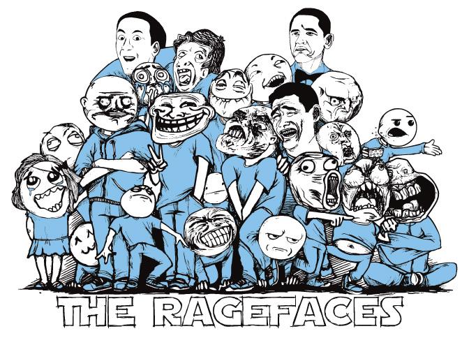 Ragefaces pohromadě - skupinové foto