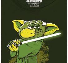 Yoda v rákosí - zelené dámské tričko