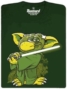 Rákosníček Mr. Yoda - zelené pánské tričko