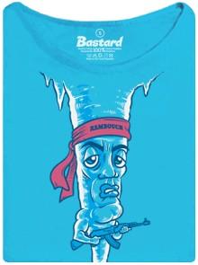 Rampouch jako Rambo - modré dámské tričko