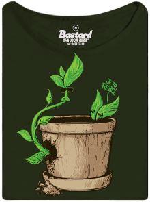 Rebel - kytka rostoucí bokem květináče - dámské tričko