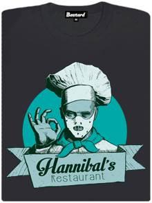 Restaurace U Hannibala Lectera - šedé dámské tričko