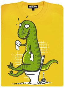 Problém tyranosaura rexe - žluté dámské tričko