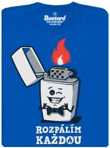 Rozpálím každou - zapalovač Zippo - modré pánské tričko
