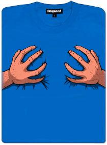 Ručky šmátralky - modré dámské tričko
