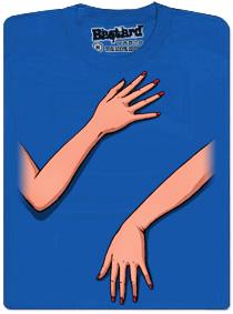 Ručky šmátralky - modré pánské tričko