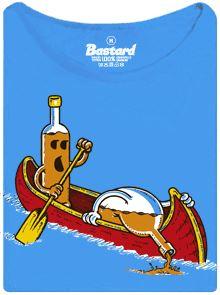 Dvě flašky rumu jako vodáci na vodě - dámské tričko