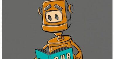 Robot si čte knížku R.U.R. od Karla Čapka - šedé dámské tričko