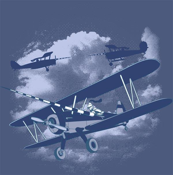 Rytíři nebes v letadlech s brněním a kopím