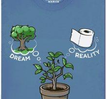 Sen vs. realita - modré pánské tričko
