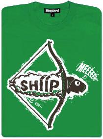 Luk a šíp (sheep) - zelené dámské tričko