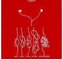 Zamotaná sluchátka - červené pánské tričko