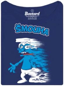 Šmoula Šmouha - modré dámské tričko