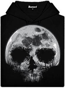 Černá dámská mikina s potiskem Smrtící úplněk