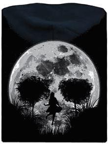 Šerná pánská mikina s potiskem Smrtící úplněk