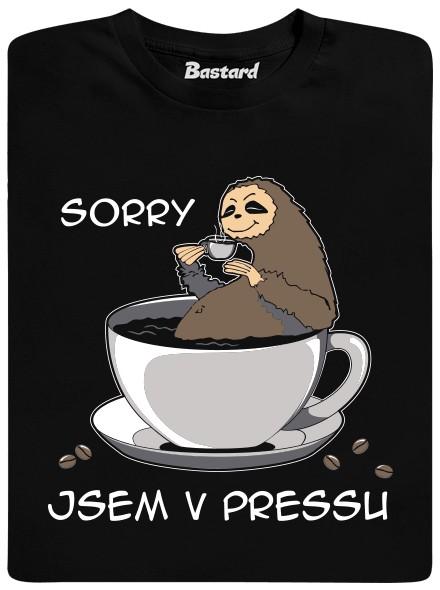Sorry, jsem v pressu - černé pánské tričko