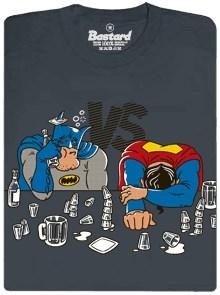 Batman vs. Superman - šedé pánské tričko