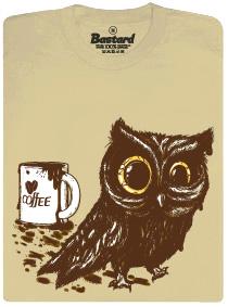 Sova na kofeinu - pánské tričko s potiskem