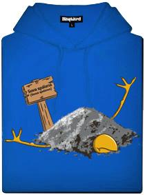 Sova spálená - modrá pánská mikina