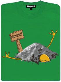 Sova spálená - zelené dámské tričko