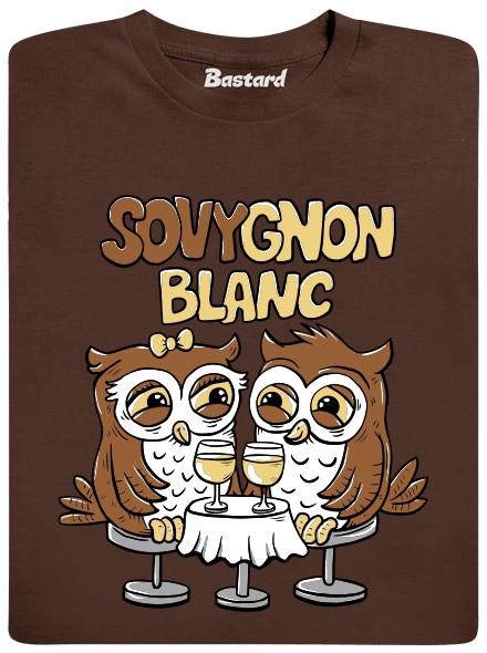 Sovygnon Blanc - hnědé pánské tričko