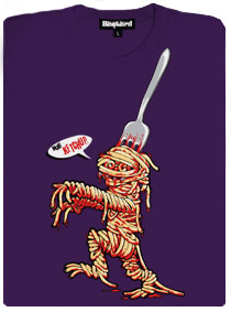 Špagetová mumie si jde pro kečup