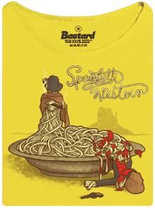 Špagetový western šerif versus zločinec - žluté dámské tričko