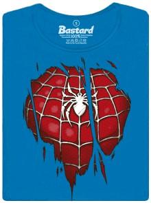 Spiderman inside - modré dámské tričko