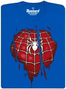 Spiderman oblek pod tričkem - modré pánské tričko