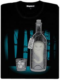 Duch v lahvi v temném lese