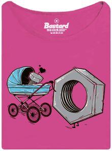 Správná matka - růžové dámské tričko s potiskem