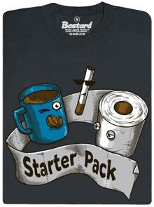 Starter pack - šedé pánské tričko