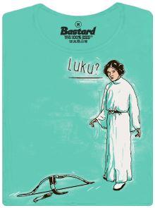 Starwars - Leia a Luk - modré dámské tričko