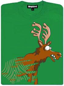 Stírací los - zelené dámské tričko s potiskem