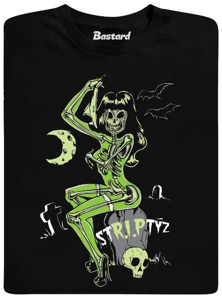 Striptýz na hřbitově - černé pánské tričko