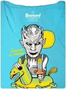 Bílý chodec ze seriálu Hra o trůny v létě a teple - modré dámské tričko