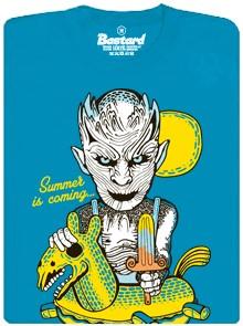 Summer is comming - modré pánské tričko
